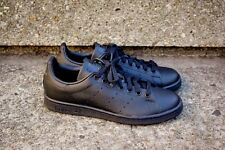 NEW ADIDAS STAN SMITH ORIGINALS SHOES MENS ALL BLACK M20327 Classic Leather QS