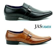 New Mens Italian Style Buckle Formal Office Slip On Shoes UK Sizes 6 7 8 9 10 11