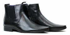 Mens Casual Chelsea Smart Zip Ankle Boots Black Brown Shoe Size 6 7 8 9 10 11