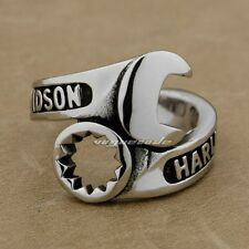 Cool 925 Sterling Silver Spanner & Wrench Mens Biker Ring 9M008D