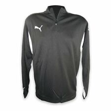 Puma Mens 1/2 Zip Sweater Training Crew Neck Jacket Black-White