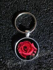 Choose A Flower Image Pendant Keychain