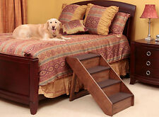 Large & Extra Large Pet Stairs Steps Ladder Ramp Dog Cat Pup Wood Bed Couch Sofa