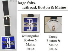 Boston & Maine Railroad fobs, various designs & leather strap options