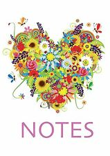 A5 Notebook Wirobind Perfect for Students Notes Plans Ideas Hearts Xmas Gift