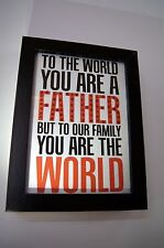 World Father, Sparkle Word Art Pictures, Quotes, Sayings, Home Decor