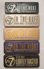 W7 Eye Shadow Palette - In The Nude - Night - Lightly Toasted - Eye Colour - New