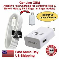 Genuine Samsung USB adaptive fast charger data sync cable Galaxy Note 4 Edge S6