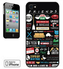 MADE FOR IPHONE 4, 5, 5C, 6, 6 + HARD CASE - FRIENDS FUNNY TV SHOW LOGO NOVELTY
