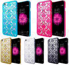 NUOVO HARD BACK Damask Case Cover per Apple iPhone con proteggi schermo gratuito