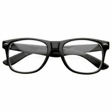 NEW BLACK FRAME RETRO Geek Nerd Non Prescription Clear Lens Eye Glasses Fashion