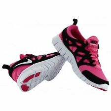 Nike Free Run 2 LE (GS) Big Kids Running Training Shoes 5Y Pink Black 644404 600