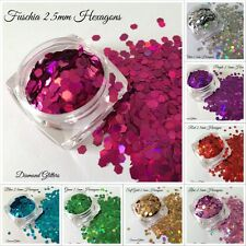 Nail Art Hexagon Holographic Glitter Chunky 5ml pot - 10g Bag Diamond Glitters