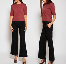 Topshop NEW Black Wide Leg Smart Trousers RRP £32 Size 6 to 16