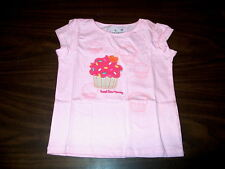 NWT Jumping Beans Girls Pink Cupcake Shirt Sizes 3 or 6 Months Sweet Like Mommy