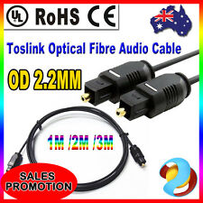 New Digital Toslink Optical Fibre Audio Cable Gold Plated For Surround Sound