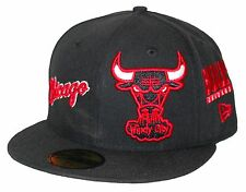 New Era 59Fifty Total Logo Redux Black Chicago Bulls Fitted Chi-Town Side Patch