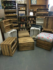 Vintage Wooden Apple Crates Storage Solutions, Shabby Chic, Rustic