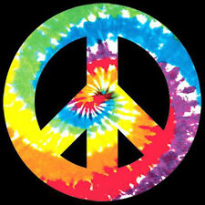Peace Sign 80's Tie Dye Hippie Trippy Funny T-Shirt Tee