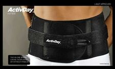 Back Brace M-brace ActivDay 500 Support Lumbar Sacral Lumbago Post Op Black