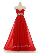 Stock Long A Line Bridesmaid Formal Dress Ball Party Cocktail Evening Prom Gown
