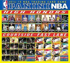 PANINI HOOPS NBA 2014 - 15 CARDS  - HIGH HONORS - COURTSIDE - FAST LANE