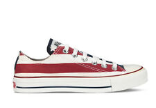 CHUCK TAYLOR ALL STAR LOW WHITE/NAVY/RED M3494 MEN CONVERSE AMERICAN FLAG QS DS