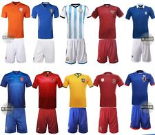 2015 Hot Kids Boys Soccer Football Star Jersey Shorts Youth Sizes Team Suit
