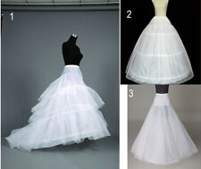 2015 WEDDING BRIDAL DRESS PROM PETTICOAT HOOPS UNDERSKIRT CRINOLINE LARGE WAIST