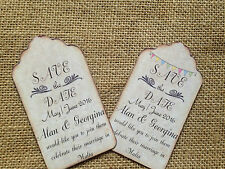 Vintage Tag Wedding save the date magnet