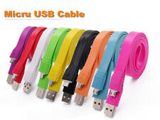 Sync Micro USB Noodle Flat Data Charging  Cable for Samsung Galaxy S2 S3 S4 HTC