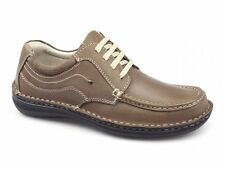 Dr Keller JUPITER Mens Leather Suede Padded Lace Up Comfy Casual Shoes Tan Brown