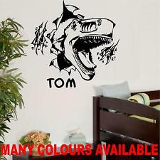LARGE DINOSAUR BURST OUT OF WALL BEDROOM LIVING ROOM WALL ART