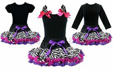 Rockstar Zebra Hot Pink Purple Tutu Pettiskirt Outfit Pageant Party *NWT* 1-10Y