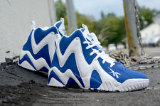 Reebok Kamikaze Sneakers Letter Of Intent White And Blue V61114