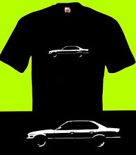 BMW E34 series 5 M5 inspired car motoring T Shirt clothing personalised retro