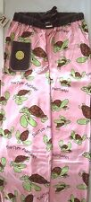 Lazy One Womans PJ Pant Pink Green Brown White Black Turtle Turtley Awesome
