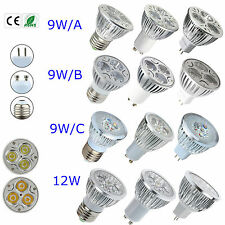 Flexible Dimmable Cool/Warm White LED Bulb 9W/12W GU10/E27/MR16 Lamp Light
