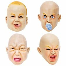 RUBBER BABY MASK FULL HEAD OVERHEAD FANCY DRESS HALLOWEEN SCARY STAG FRESHERS