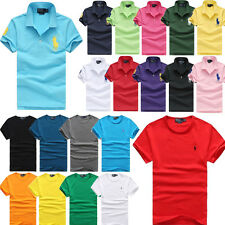New Men's POLO Shirt Solid Color T-shirt Casual Sports Short Sleeve Best Quality