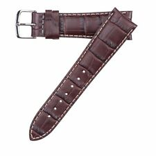 Hadley-Roma Men's Matte Stitched Alligator Grain Watch Band Strap 19mm MS834