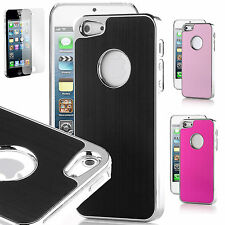 Aluminium Back hard case cover for apple iphone 4 4s & Screen Protector