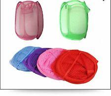 Laundary Bag Foldable Pop Up Mesh Washing Laundry Basket BagBin HamperToyStorage