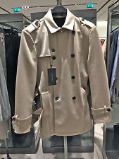 ZARA MAN NEOPRENE TRENCHCOAT LIGHT CAMEL S-XXL  Ref. 1608/401