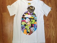 Brand New AAPE Bape A Bathing Ape T-shirt with Colorful Logo in White