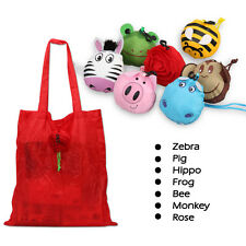 Cute Handbag Folding Shopping Tote Grocery Bag Travel Shoulder Bag Reusable Bag
