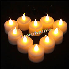 LED Tea Light Tealight Candle Flameless Flickering Wedding Restaurant Deco.