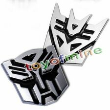 3D Logo Transformers Autobot Emblem Metal Badge Chrome Sticker Decal Car 1pcs