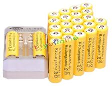 24 AA 3000mAh 1.2V Yellow Ni-MH Rechargeable Battery for MP3 Camera +Charger