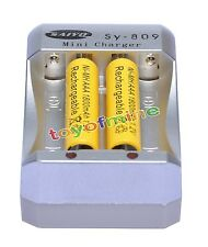 2 AAA 1800mAh 1.2V Ni-MH Rechargeable Battery Yellow for MP3 RC Toys +Charger